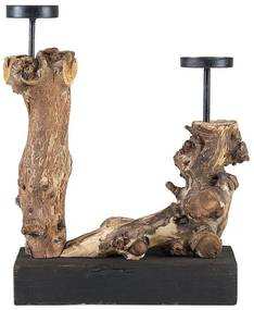 Candelabro decorativo de madeira FLORES