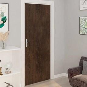 Autocolante para porta 2 pcs 210x90 cm PVC cor carvalho escuro