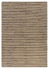 133215 vidaXL Tapete de juta tecido à mão 120x180 cm natural e preto