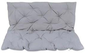 41471 vidaXL Almofada cinzenta para cadeira de balanço, 120 cm