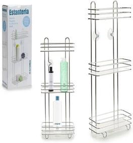 Prateleira de Casa de Banho Transparente Plástico (14 x 60 x 27 cm)