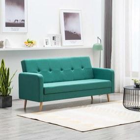 Sofá em tecido verde