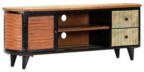 247921 vidaXL Móvel de TV 120x30x45 cm madeira recuperada maciça