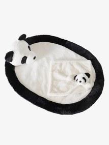 Conjunto tapete de atividades + boneco doudou Panda. preto vivo bicolor/multicolor
