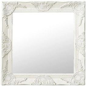320312 vidaXL Espelho de parede estilo barroco 50x50 cm branco