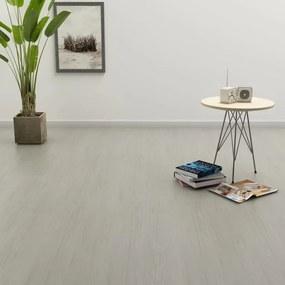143873 vidaXL Tábuas de soalho auto-adesivas 4,46 m² 3 mm PVC cinzento-claro