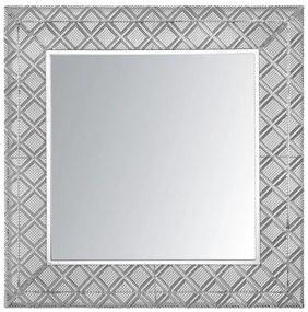 Espelho de parede 80 x 80 cm prateado EVETTES