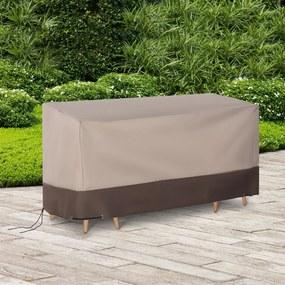 Outsunny Capa para móveis de jardim 600D Oxford Proteção contra poeira contra raios ultravioleta 127x72x76 cm para mesas cadeiras sofás marrom