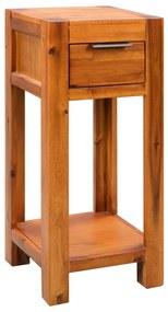 245193 vidaXL Mesa de apoio madeira de acácia maciça 30x30x70 cm
