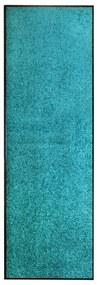 323459 vidaXL Tapete de porta lavável 60x180 cm azul ciano