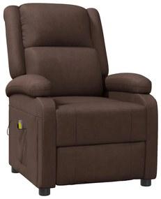 322431 vidaXL Cadeira de massagens reclinável couro artificial castanho
