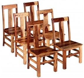274764 vidaXL Cadeiras de jantar 6 pcs madeira de sheesham maciça