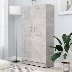 802727 vidaXL Estante 82,5x30,5x150 cm contraplacado cinzento cimento