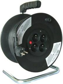 Solight PB02 - Bobina de cabo de extensão 50m preto