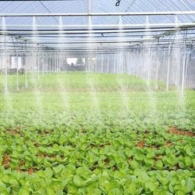 Outsunny Nebulizador de Água para Jardins Sistema de Resfriamento por Nebulização para Pátio Jardim Ar Livre 6m Preto