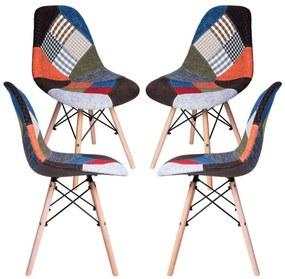 Pack 4 Cadeiras Tower Patchwork
