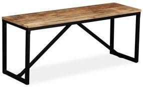244902 vidaXL Banco em madeira de mangueira maciça 110x35x45 cm