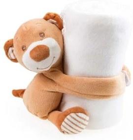 Manta Polar Infantil com Peluche Urso (100 X 75 cm) 144721 - Urso