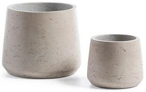 Kave Home - Conjunto Low de 2 vasos cinza
