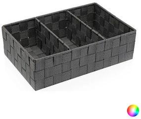 Caixa com compartimentos Têxtil (21 x 10 x 32 cm) - Cinzento (S3404200)