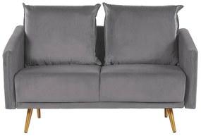 Sofá de 2 lugares em veludo cinzento MAURA