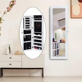 HomCom Espelho guarda-joias Branco MDF 37 x 9,5 x 112 cm
