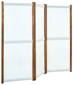 315606 vidaXL Divisória/biombo com 3 painéis 210x170 cm branco