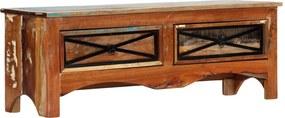 Móvel de TV 120x30x40 cm madeira recuperada maciça