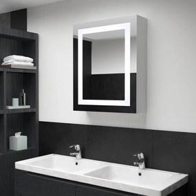 285116 vidaXL Armário espelhado para casa de banho com LED 50x13x70 cm