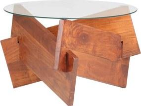 Mesa de centro 60 cm madeira de acácia maciça