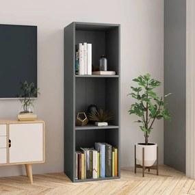 800137 vidaXL Estante/móvel de TV 36x30x114 cm contraplacado cinzento