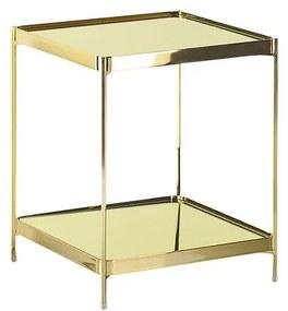 Mesa de apoio dourada 41 x 41 cm ALSEA