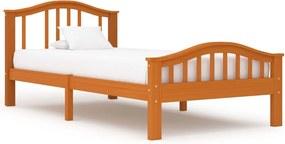 Estrutura de cama 100x200 cm pinho maciço castanho mel