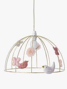 Candeeiro gaiola de pássaros amarelo