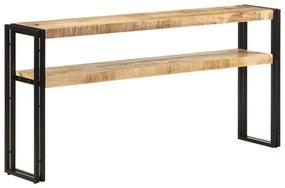 321102 vidaXL Mesa consola 150x30x75 cm madeira de mangueira áspera