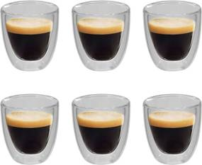 Copo de vidro duplo térmico para café 6 pcs 80 ml