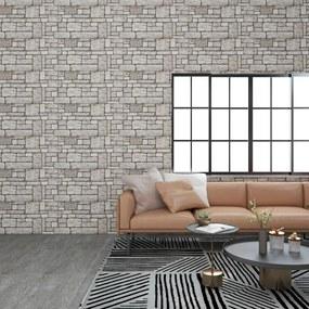 147205 vidaXL Painéis de parede 3D design tijolos cinzento 11 pcs EPS