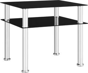 Mesa de apoio 45x50x45 cm vidro temperado preto
