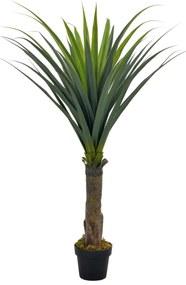 280184 vidaXL Planta yucca artificial com vaso 145 cm verde