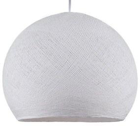 Dome M lampshade made of polyester fiber, 35 cm diameter - 100% handmade - Branco Polyester