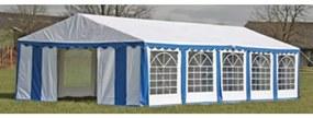 40158 vidaXL Tenda para festa com painéis laterais, 10 x 5 m Azul e Branco