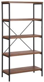Estante de madeira escura com 5 prateleiras BRISBANE