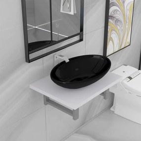 279322 vidaXL Conjunto de móveis de casa banho 2 peças cerâmica branco