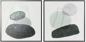 Pintura DKD Home Decor Stones (57 x 3 x 57 cm)