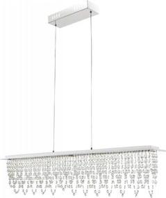 Globo 68405-24H - Candelabro suspenso de cristal LED com regulação LED/24W/230V + CR