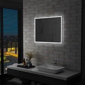 Espelho de parede LED para casa de banho 80x60 cm