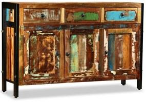 243984 vidaXL Aparador de madeira reciclada maciça 120x35x76 cm