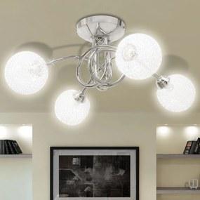 Candeeiro de teto com rede de malha para 4 lâmpadas G9
