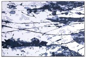 Tapete 140 x 200 cm branco e azul IZMIT