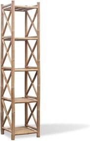 Estante de bambu quadrado com 5 níveis